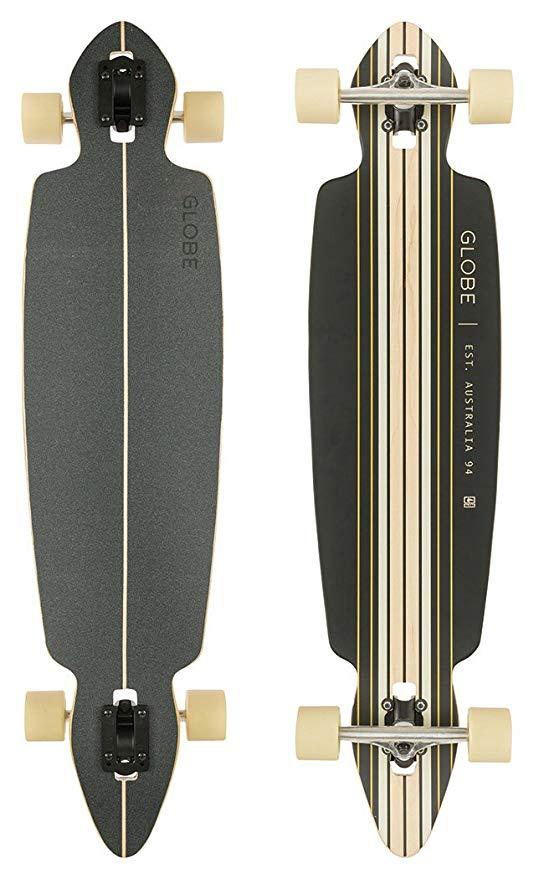 Globe Longboard Pinner Drop Through, Black/Gold
