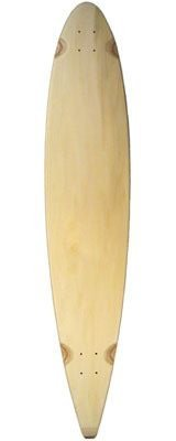 Blank Pintail Longboard Deck nature
