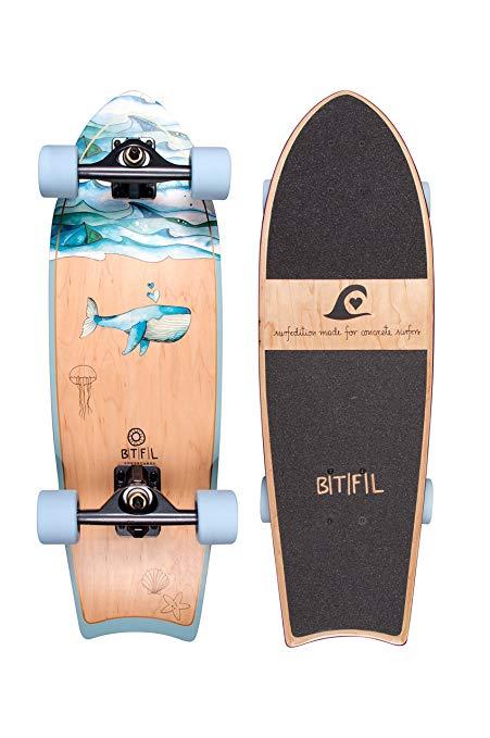 No Name BTFL Longboards - SurfSkate - Moby und Zoey