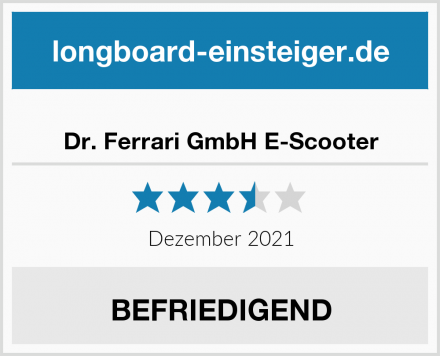 Dr. Ferrari GmbH E-Scooter Test