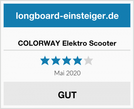 COLORWAY Elektro Scooter Test