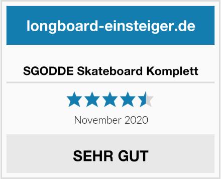 SGODDE Skateboard Komplett Test