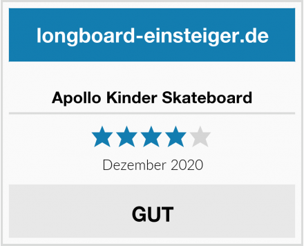 Apollo Kinder Skateboard Test