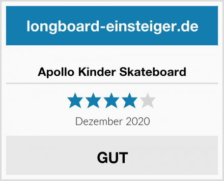 Apollo Kinder Skateboard Test