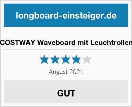COSTWAY Waveboard mit Leuchtrollen Test