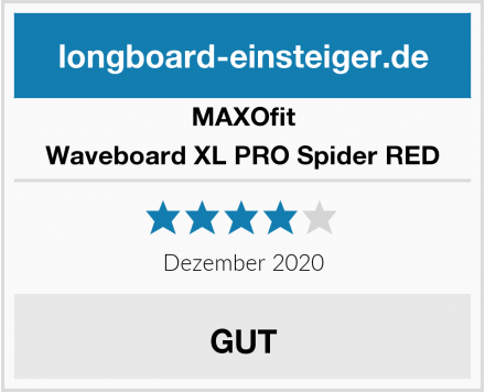 MAXOfit Waveboard XL PRO Spider RED Test