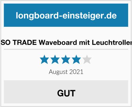 ISO TRADE Waveboard mit Leuchtrollen Test