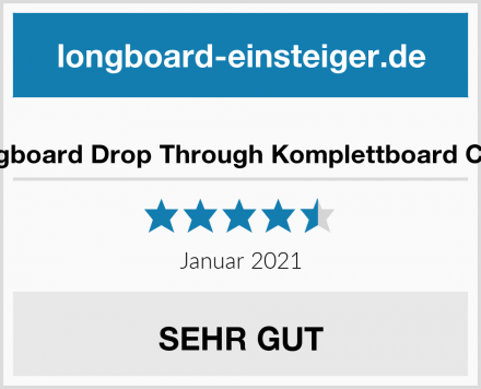 Koston Longboard Drop Through Komplettboard Cruiser Clash Test