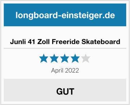 Junli 41 Zoll Freeride Skateboard Test