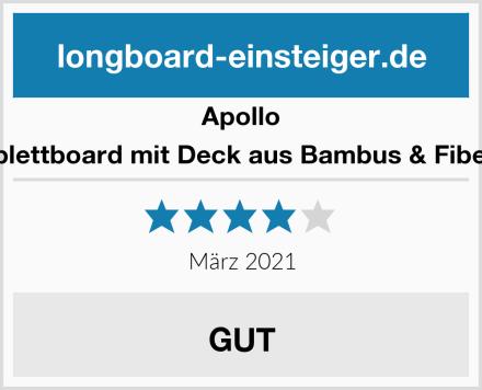 Apollo Komplettboard mit Deck aus Bambus & Fiberglas Test