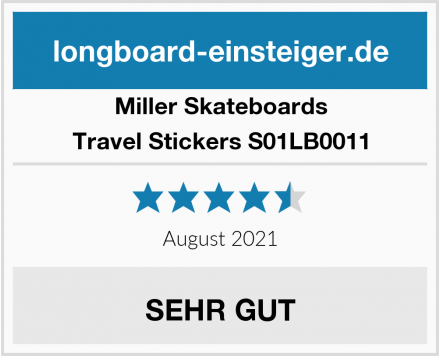 Miller Skateboards Travel Stickers S01LB0011 Test