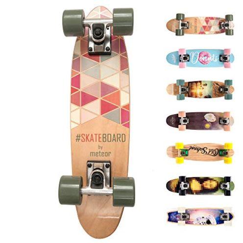 meteor Holz Skateboard Kinder