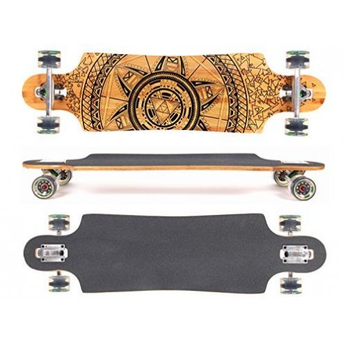 MAXOfit Deluxe Longboard GeoLines Bamboo No.96